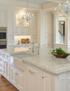 Adorable White Kitchen Design Ideas28