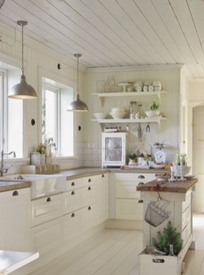 Adorable White Kitchen Design Ideas43