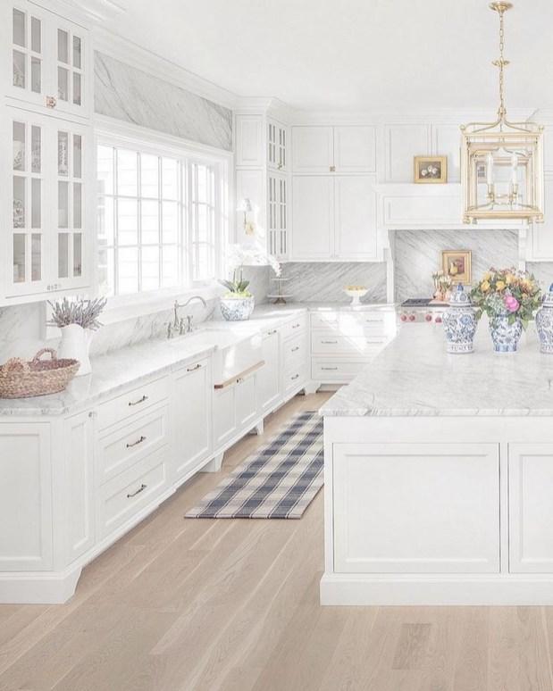 Adorable White Kitchen Design Ideas46