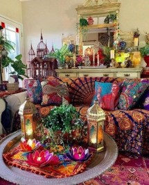 Charming Boho Living Room Decorating Ideas With Gypsy Style03