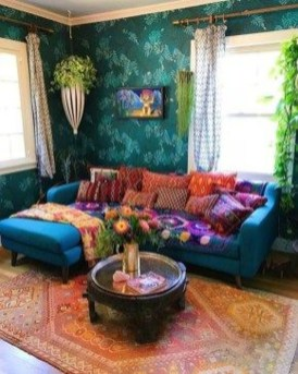 Charming Boho Living Room Decorating Ideas With Gypsy Style15