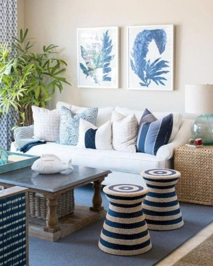 Elegant Coastal Themed Living Room Decorating Ideas24