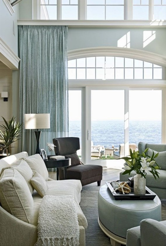 Elegant Coastal Themed Living Room Decorating Ideas37