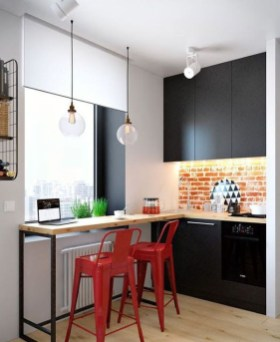 Enchanting Kitchen Design Ideas For Small Spaces27