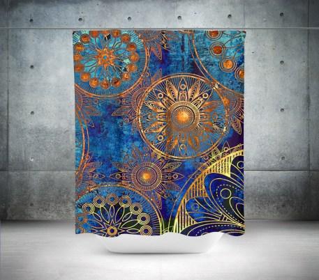 Fabulous Bathroom Design Ideas With Boho Curtains08