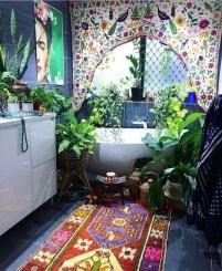 Fabulous Bathroom Design Ideas With Boho Curtains10