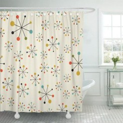 Fabulous Bathroom Design Ideas With Boho Curtains11