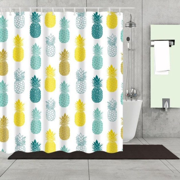Fabulous Bathroom Design Ideas With Boho Curtains14
