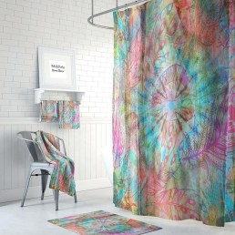 Fabulous Bathroom Design Ideas With Boho Curtains16