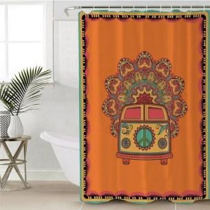 Fabulous Bathroom Design Ideas With Boho Curtains29