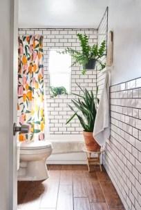 Fabulous Bathroom Design Ideas With Boho Curtains31