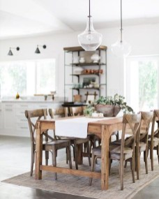 Pretty Farmhouse Table Design Ideas For Kitchen28