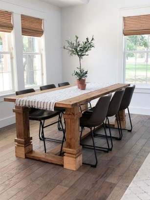Pretty Farmhouse Table Design Ideas For Kitchen39