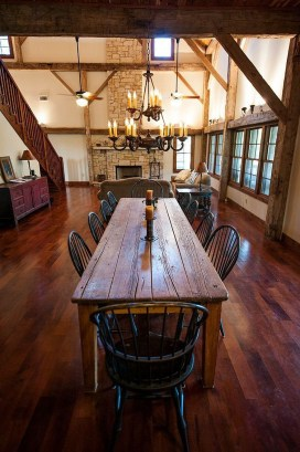 Pretty Farmhouse Table Design Ideas For Kitchen40