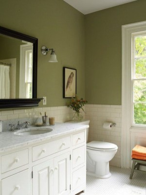 Vintage Farmhouse Bathroom Decor Design Ideas07