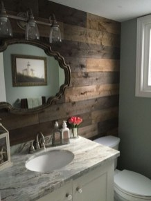 Vintage Farmhouse Bathroom Decor Design Ideas23