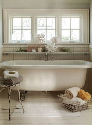 Vintage Farmhouse Bathroom Decor Design Ideas26