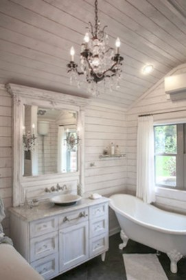 Vintage Farmhouse Bathroom Decor Design Ideas33