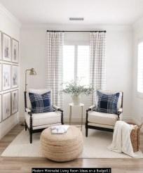 Modern Minimalist Living Room Ideas On A Budget11