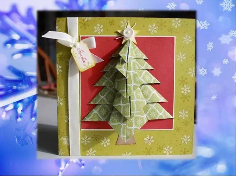 как сделать елку из открыток одной стороне следует