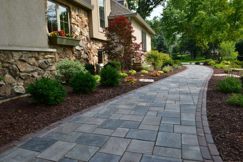 Simple Pathway with Classic Boxwood