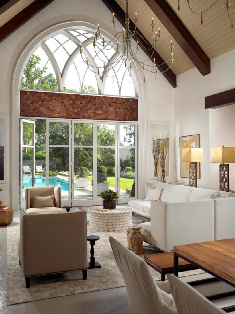 Exciting Floor to Ceiling Windows with Cathedral Style