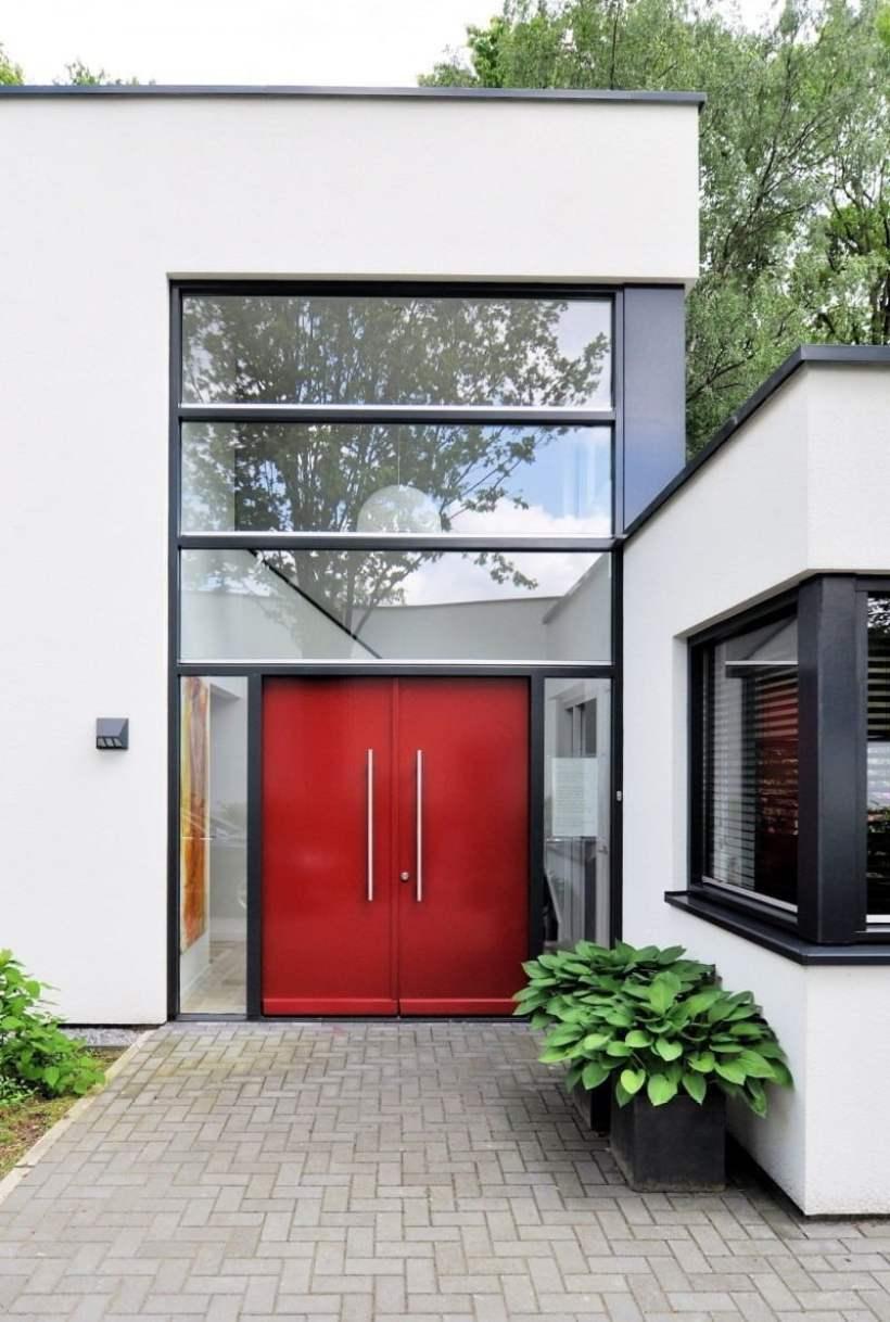 Bold Red Front Door