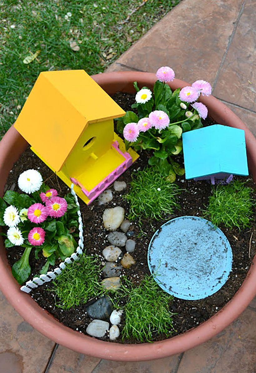 Birdhouse Fairy Garden