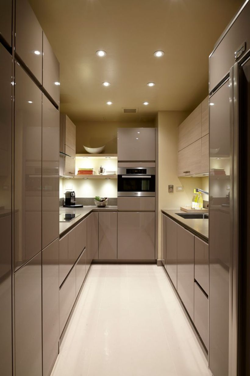 Tunnel-Shaped Contemporary Kitchen