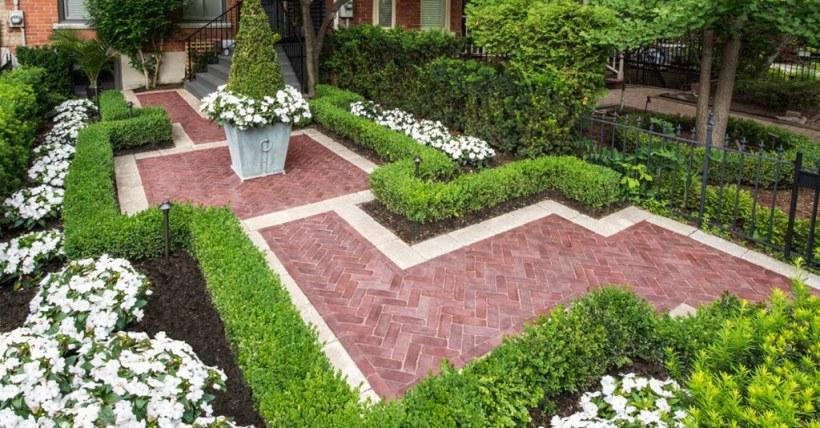 Interesting Walkway with Beautiful Flowerbeds