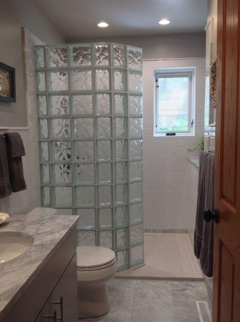 Glass Block Walk In Shower
