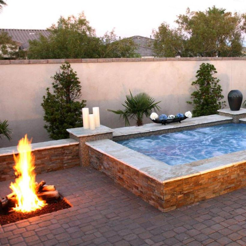 Fire Pit and Jacuzzi Combination