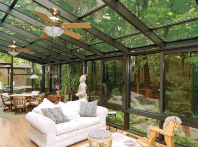 Beautiful Glass Enclosed Patio