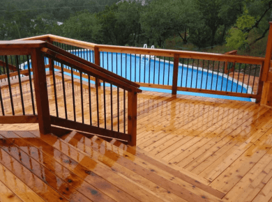 Higher Deck with a Sunken Pool