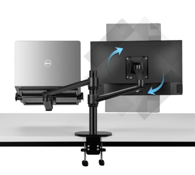 Desk Monitor Mount with Laptop Stand