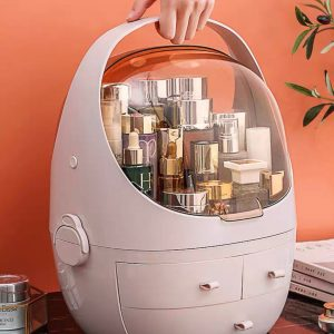 Detachable Makeup Storage Organiser With Cover (Dusk Rose)