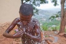 Neighborhood using REGIDESO water