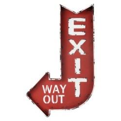 6. Panneau rouge Exit.