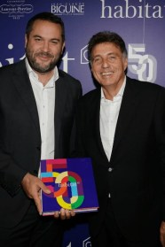 Bruce Toussaint et Hervé Giaoui, président des magasins Habitat.