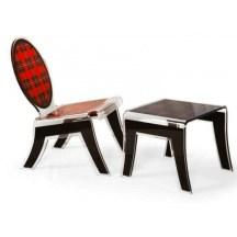 6. Chaise et tabouret.