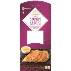 Saumon Gravlax sauce à la moutarde et au miel, Leader Price