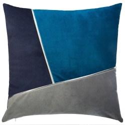2. Coussin Patchwork Bleu, Atmosphera
