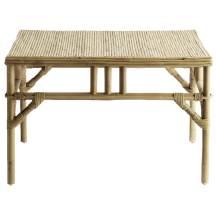 3. Table carré en rotin, Rue de la Déco