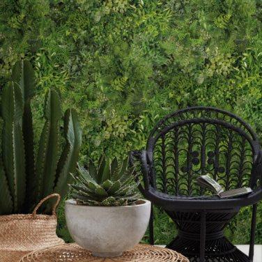 Papier peint rideau végétal, Koziel