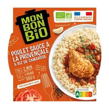 Mon Bon Bio Poulet sauce a la provencale et riz de Camargue