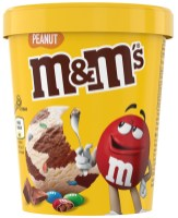 2. Crème glacée cacahuète, M&M's
