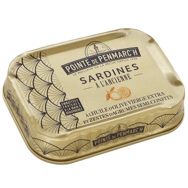 Sardines à l'ancienne à l'huile d'olive vierge extra et zestes d'agrumes semi-confits, Pointe de Penmarc'h