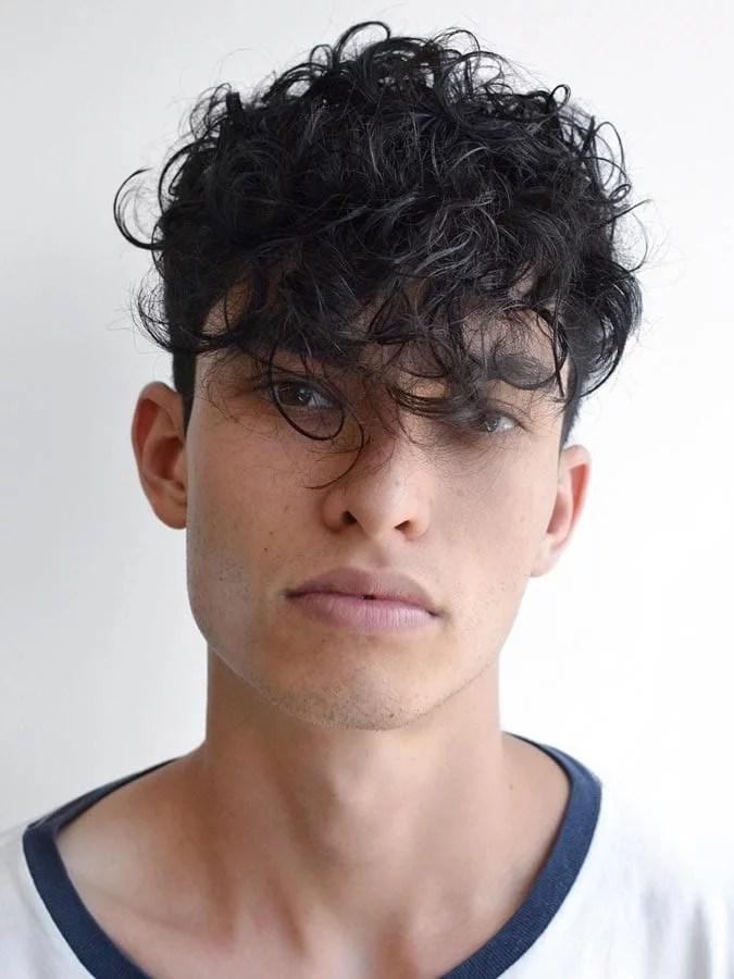 Coiffures Cheveux Bouclés pour Homme Style frisé Bouclé