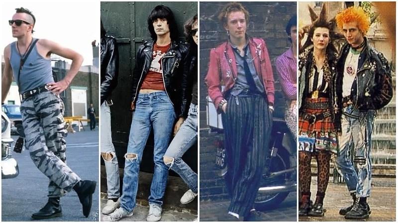 Mode Punk des années 80 pour hommes