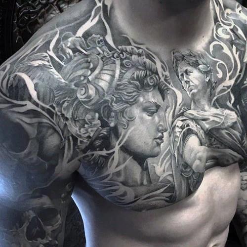 tatouage pectoraux idées